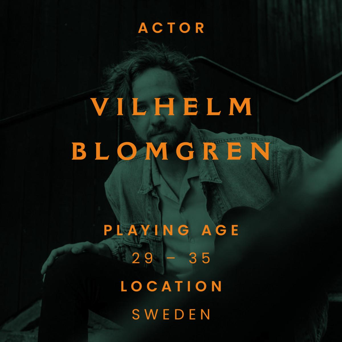 Vilhelm Blomgren, Sweden, actor