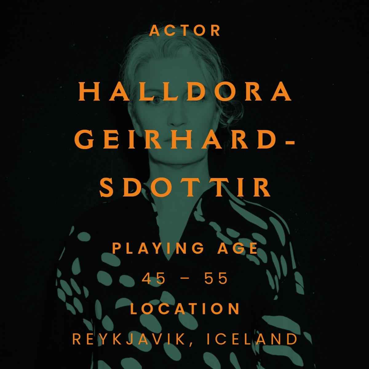 halldora Geirharðsdóttir, iceland, actor