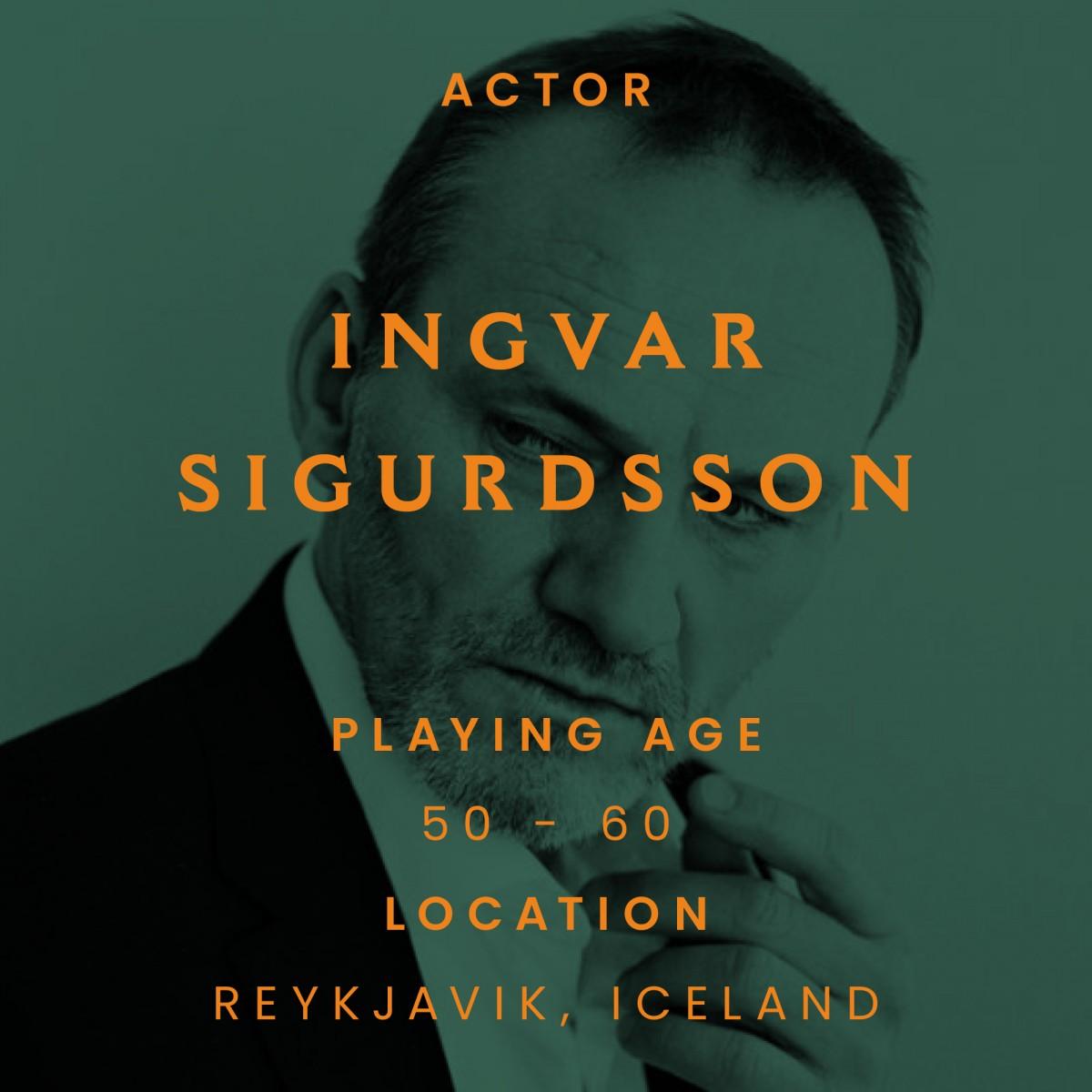Ingvar Sigurdsson, actor, iceland