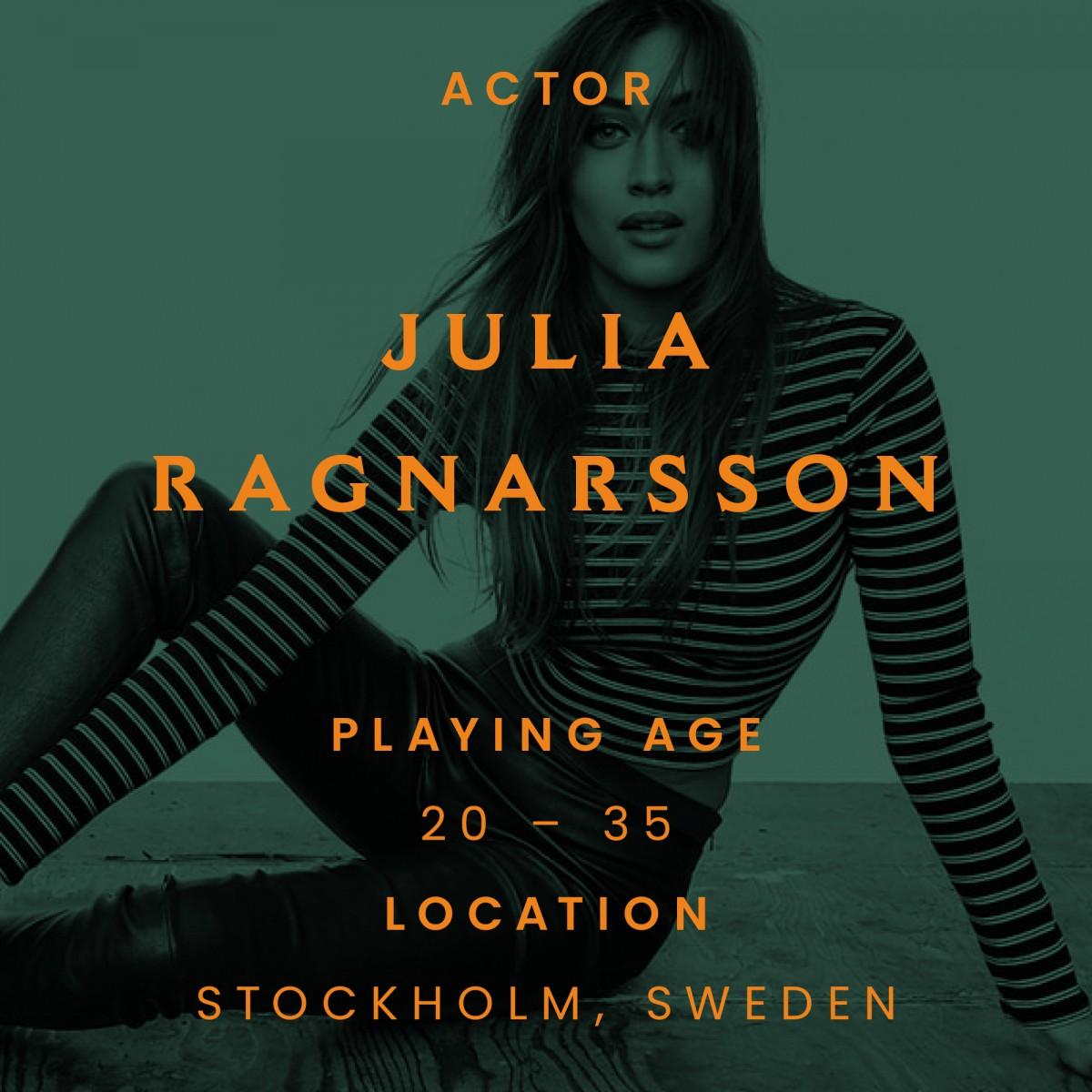 Julia ragnarsson, actor, sweden