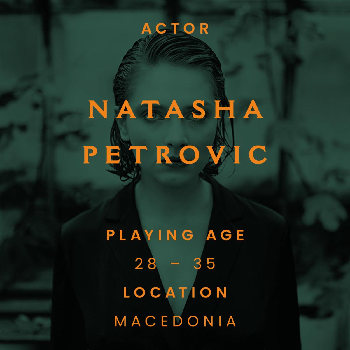 Natasha petrovic, actor, Macedonia
