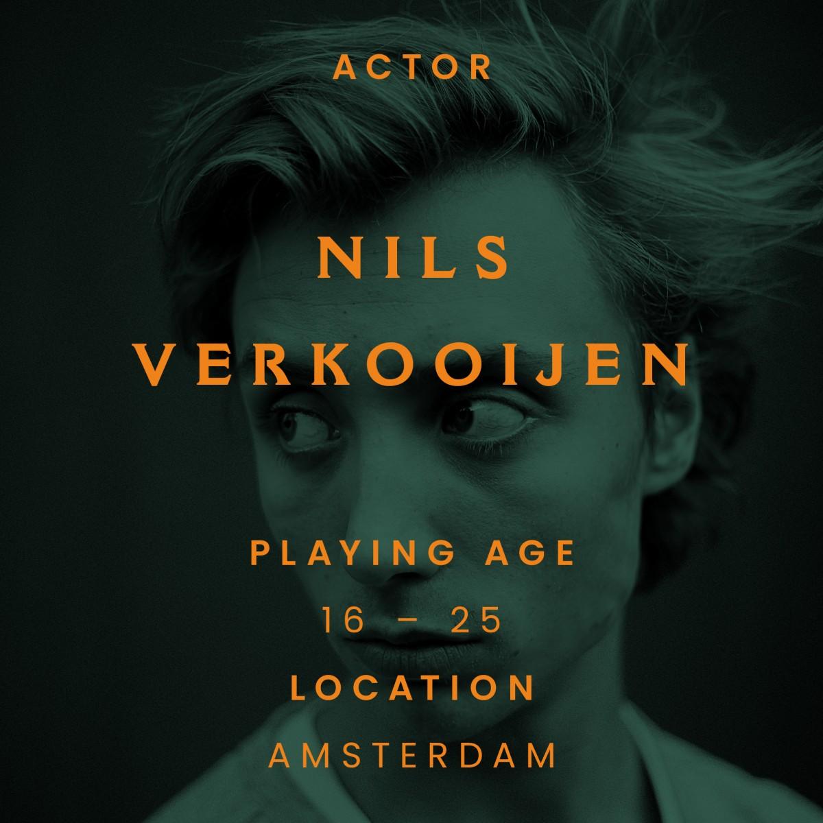 nils verkooijen, actor, Amsterdam