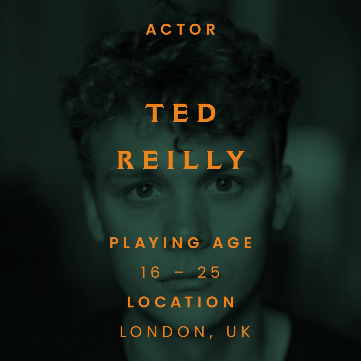ted Reilly, actor, London