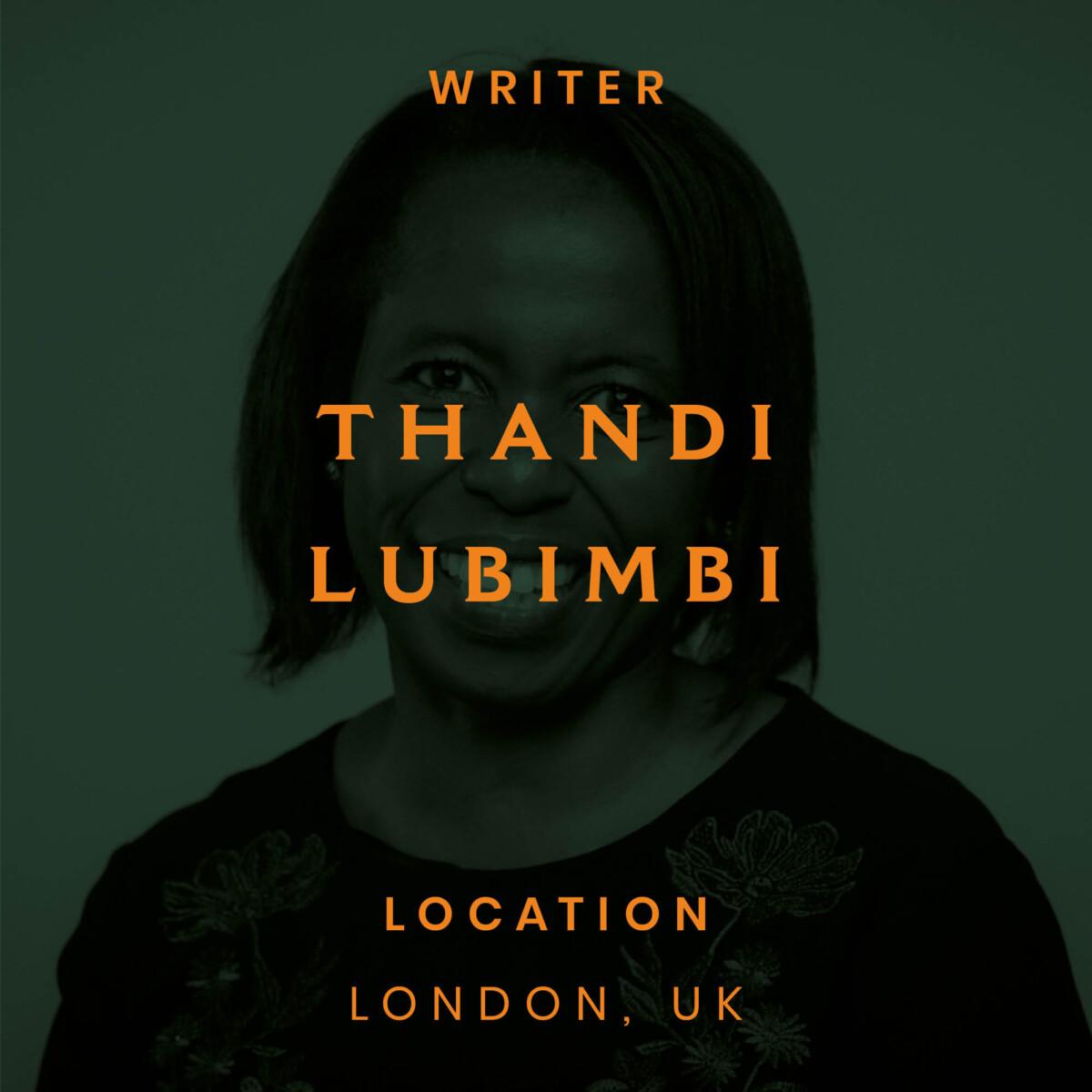 Thandi, Lubimbi, London, barrister, writer