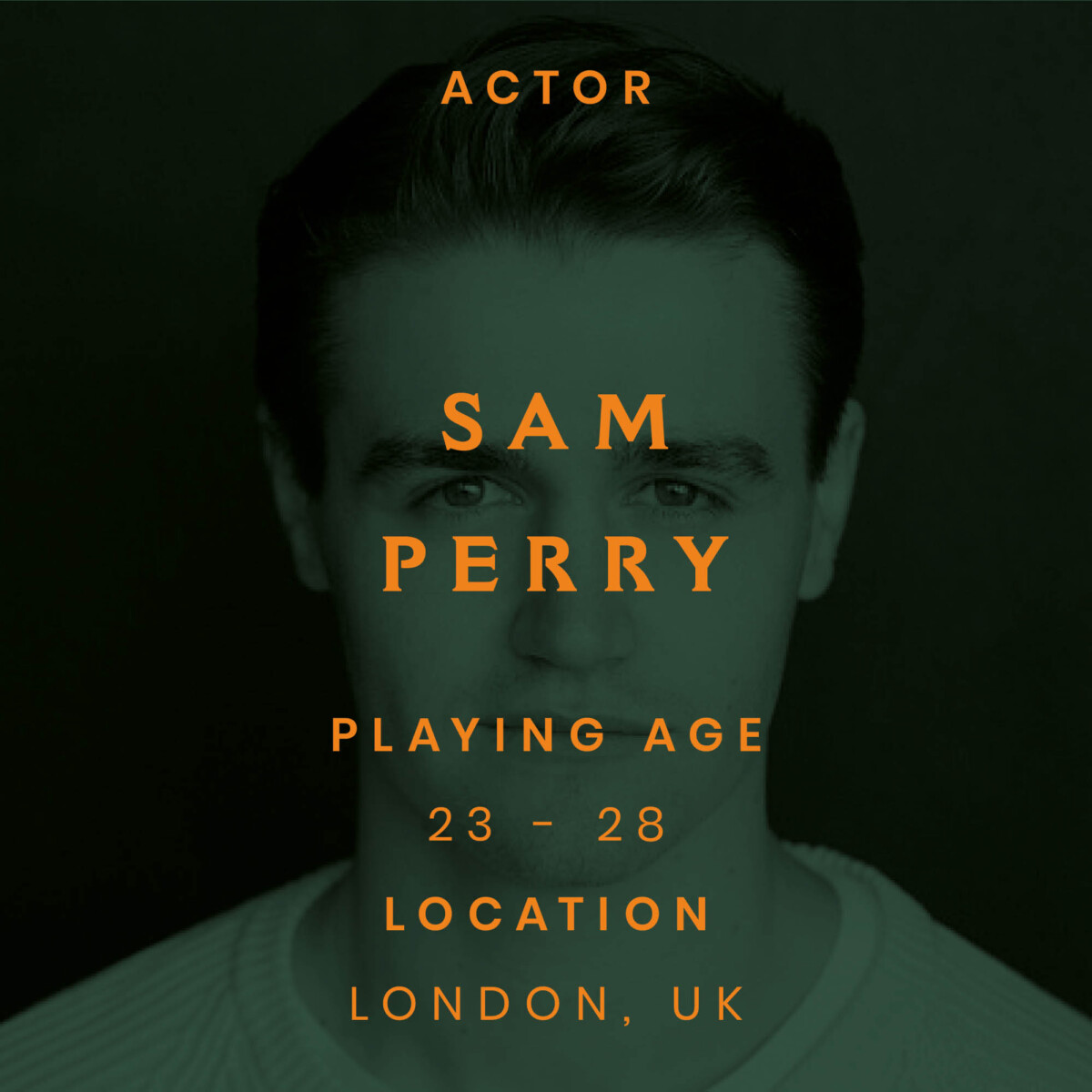 sam Perry, actor, London